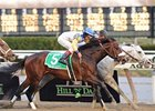 Tale of Ekati Adds Blinkers in Belmont Opener