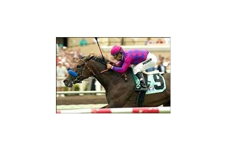Attima carries Victor Espinoza to the win in the San Clemente Handicap, Saturday at Del Mar.