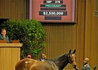 Dreamtheimpossible became the highest-priced horse sold at the Keeneland November breeding stock sale so far when she brought $2.55 million Nov. 9.