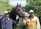 Trainer Rafael Becerra (left) with St Averil and his son Rafael Becerra Jr.