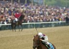 Classic winner Funny Cide, shown winning the 2003 Preakness, will be welcomed at the Kentucky Horse Park on Dec 5.