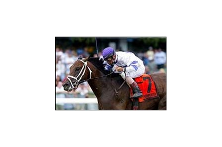 West Virginia wins the Philip H. Iselin Breeders' Cup Handicap.