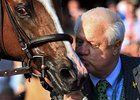 Jerry Crawford of Donegal thanks Dullahan for his Blue Grass victory.