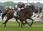 Dr. Brendler, foreground, holds off Perfect Soul in the Citgo Dixie Stakes.