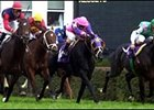 War Chant (far left, red cap) blew by his rivals in the last eighth of the Breeders' Cup Mile.