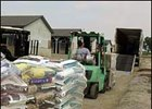 Supplies are loaded into a trailer at the Kentucky Horse Park Thursday as part of a Katrina relief effort.