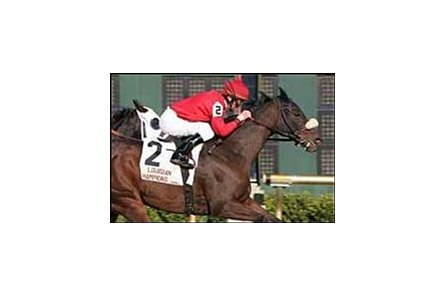 Mr. Sulu wins the Turf on Louisiana Champions Day, Saturday at the Fair Grounds meet at Harrahs Louisiana Downs.