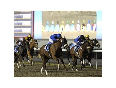 Midshipman comes home strong at Meydan.