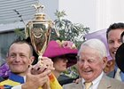 James Tafel, right, after Street Sense wins the Kentucky Derby.