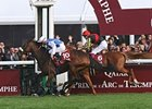 Solemia winning the Prix De l'Arc de Triomphe.