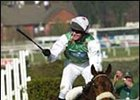 Monty's Pass, en route to Grand National victory under jockey Barry Geraghty.