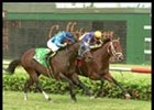 Texas Glitter Wins Race Marred by Spill