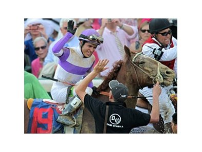 Mario Gutierrez after winning the 2012 Kentucky Derby aboard I'll Have Another.
