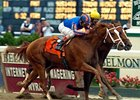 "The historic victory by Rags to Riches over Curlin in the Belmont Stakes has been voted NTRA ""Moment of the Year"" for 2007.<br><a target=""blank"" href=""http://www.bloodhorse.com/horse-racing/photo-store?ref=http%3A%2F%2Fpictopia.com%2Fperl%2Fgal%3Fprovider_id%3D368%26ptp_photo_id%3D1389756%26ref%3Dstory"">Order This Photo</a>"