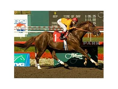 Heatseeker sets a nine-furlong track record in the Californian (gr. II) May 31 at Hollywood Park.