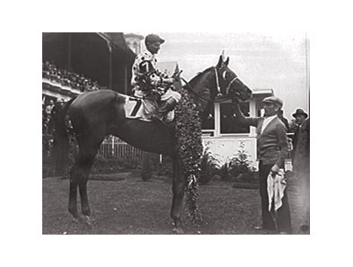Triple Crown champion Gallant Fox after winning the 1930 Kentucky Derby.