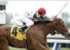 "My Typhoon, shown winning the Jenny Wiley, is one of 5 Ms competing in Saturday's Diana.<br><a target=""blank"" href=""http://www.bloodhorse.com/horse-racing/photo-store?ref=http%3A%2F%2Fpictopia.com%2Fperl%2Fgal%3Fprovider_id%3D368%26ptp_photo_id%3D1008714%26ref%3Dstory"">Order This Photo</a>."