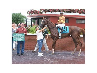 Jockey Eduardo Nunez became the all-time winning rider of the Calder meet when he guided With Moms Blessing to victory in the fifth race.