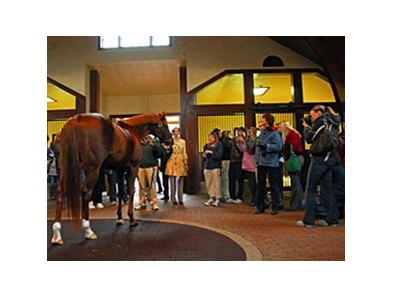 Fans say goodbye as Smarty Jones heads to Pennsylvania.