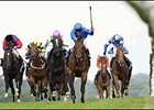 Dubai Destination, center, on the way to winning the Queen Anne Stakes at Royal Ascot.
