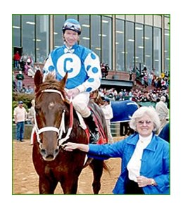 Haskin: Smarty Jones {with owner Patricia Chapman after Rebel win} is having a tough time making believers out of people, despite being undefeated in five starts.