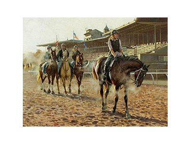 Morning Exercise at Santa Anita Painting