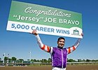 Joe Bravo celebrates win number 5,000.