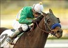 Dixie Meister wins the San Pasqual Handicap, Saturday at Santa Anita.