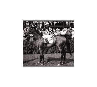 Westrope aboard Stagehand after 1938 Empire City Handicap.