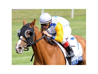 "Lady Shakespeare and John Velazquez take the Bewitch Stakes at Keeneland.<br><a target=""blank"" href=""http://www.bloodhorse.com/horse-racing/photo-store?ref=http%3A%2F%2Fpictopia.com%2Fperl%2Fgal%3Fprovider_id%3D368%26ptp_photo_id%3D8912293%26ref%3Dstory"">Order This Photo</a>"