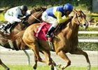 Megahertz wins third straight Santa Barbara Handicap.