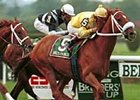 Val's Prince, winning the 1999 Turf Classic at Belmont Park.