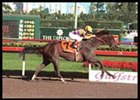 Stephentown with Pat Day winning at Gulfstream Park on 1/9/02. Photo By EQUI-PHOTO