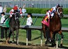 "Big Brown and Eight Belles complete the Derby exacta. <br><a target=""blank"" href=""http://www.bloodhorse.com/horse-racing/photo-store?ref=http%3A%2F%2Fpictopia.com%2Fperl%2Fgal%3Fprovider_id%3D368%26ptp_photo_id%3D4394684%26ref%3Dstory"">Order This Photo</a>"