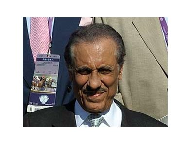 Prince Khalid Abdullah, owner of Juddmonte Farms