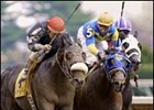 Griffinite, left, shown winning the Lafayette Stakes, will seek a repeat in Saturday's Coolmore Lexington Stakes.