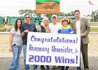 Rosemary Homeister, Jr. collected her 2000th career victory Dec. 18 at Tampa Bay Downs.