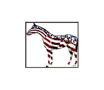 """Old Glory"" brought the top price of $85,000 at horse art auction in Ocala, Florida."