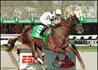 San Diego Handicap favorite Congaree, shown winning 2001 Wood Memorial.