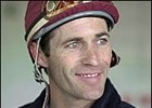 Jockey Gary Stevens, will not ride again until Saturday due to a minor injury.