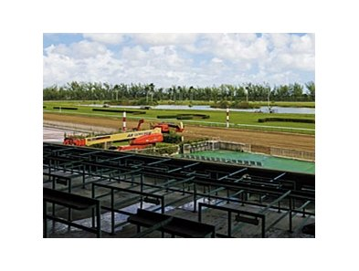 Preparations continue to resume racing at Hialeah on November 28.
