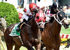 "Sandbar shakes free from Happy My Way to win the Maryland Sprint Handicap.<br><a target=""blank"" href=""http://photos.bloodhorse.com/AtTheRaces-1/At-the-Races-2015/i-9b9tVfj"">Order This Photo</a>"