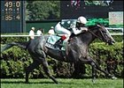 Jerry Bailey guided Seducer's Song to victory in the Lake George Stakes.