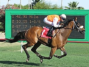 Az Ridge wins the Hasta La Vista Handicap.