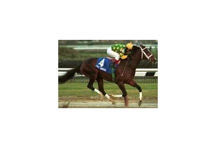 Early Warning, with Jorge F. Chavez aboard, captures the $114,700 Gallant Fox Handicap on Sunday, Dec. 26, 1999, at Aqueduct Race Track in New York.