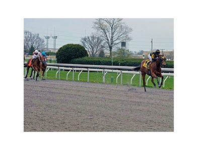 Nina Fever broke her maiden April 3 at Keeneland by eight lengths.