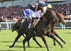 Society Rock rolls to an upset in the Golden Jubilee Stakes. 