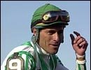 Gary Stevens, after winning the Belmont Stakes.