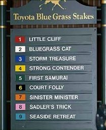 First Samurai Draws Post Position 5 as Blue Grass Favorite