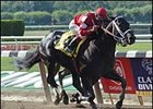 Offlee Wild, winning the Suburban, worked out at Saratoga Friday.